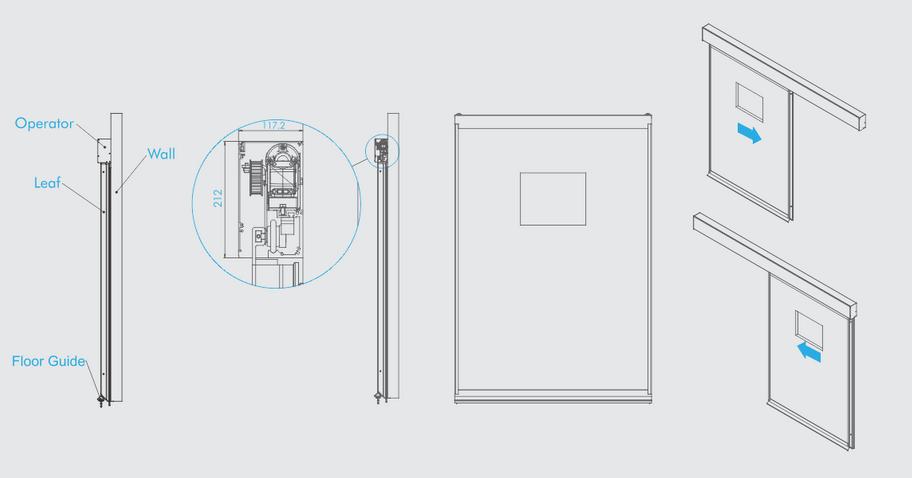 درب های اتوماتیک بیمارستانی (هرماتیک) Automatic Hermetic Doors.png 3