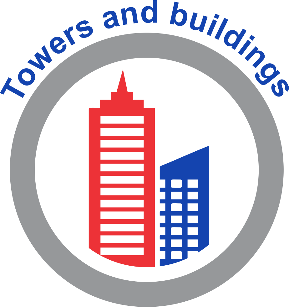 Towers and buildings
