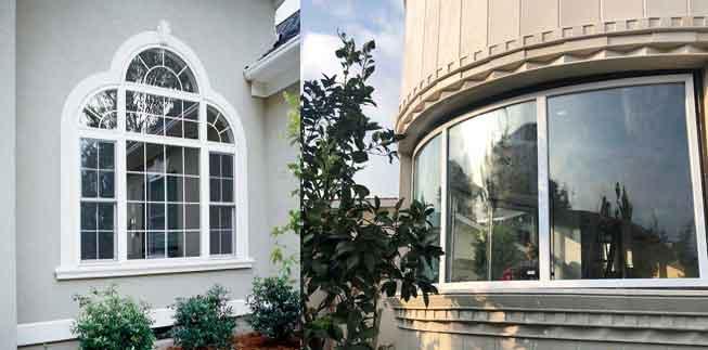 درب و پنجره قوس و چند ضلعی UPVC